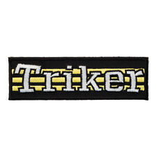 Triker Yellow Stripes Patch, Motorcycle Sayings Patches