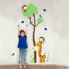 PVC Wall Decal Sticker Cartoon Giraffe Monkeys Growth Height Children Kids Chart