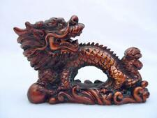 Protection Charm Chinese Oriental Feng Shui Red Cherry LUCKY Dragon Figurine #E