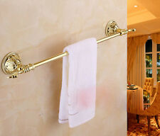 Gold Finish Single Towel Bar Wall Mount Bath Towel Rack