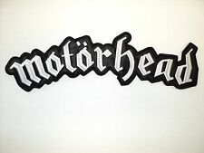 MOTORHEAD  WHITE  LOGO    EMBROIDERED BACK PATCH