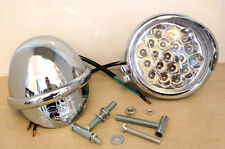 "4"" LED Spotlights-Builtin Eagle Visor-12V-21W-MotorBikes/Cycles-Trike-Sidelight"