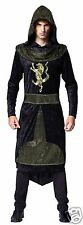 Medieval King Costume Black Knight Arthur Sherrif of Nottingham Fancy Dress XL