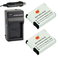 DSTE 2x AHDBT-002 Battery + Charger for Gopro HD HERO2 Outdoor Edition