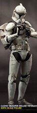 "Star Wars Clone Trooper Deluxe Veteran figurine 12"" Sideshow Collectibles 100206"