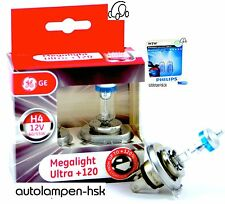 Ge h4 megalight ultra +120% + Philips w5w blue visión ultra + el set +