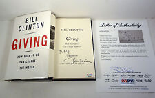 PRESIDENT BILL CLINTON SIGNED GIVING HARDCOVER 1ST/1ST BOOK PSA/DNA LOA COA