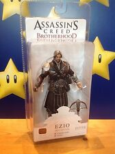 "Assassins Creed Fratellanza Ezio (con scappellamento) Onyx Costume 7"" NECA ACTION FIGURE"