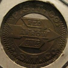 1951 Red Arrow Lines Upper Darby, PA Transit Bus Token - Pennsylvania Bronze