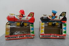 """Rare Space Rocket n. """"7"""" Robot Friction SY Toys Made in Japan 1960's Box"""