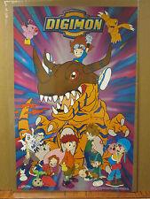 vintage 1991 Digimon Digital Monsters original cartoon poster 7106