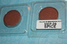 LOT OF 2  Milani Powder Eye Shadow ~POT~ SPICE  #09  REFILL