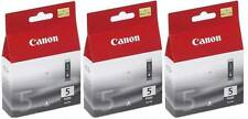 Canon 3x Genuine Black PGI-5Bk Printer Ink Cartridge ip4200 Original PGI5Bk NEW
