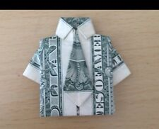 $1 DOLLAR BILL FOLDED INTO A SHIRT AND TIE (ORIGAMI GIFT FOR HIM)Good 4 Birthday