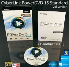 CyberLink PowerDVD 15 Standard Vollversion Box + CD Ultra 4K DVD-Player OVP NEU