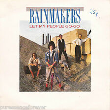 """THE RAINMAKERS - Let My People Go-Go (UK 2 Tk 1986 7"""" Single PS)"""