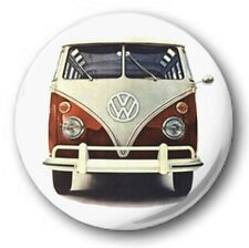 VW CAMPER - 1 inch / 25mm Button Badge - Van Love Bus Hippy Volkswagen 60's