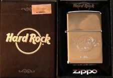 Hard Rock Cafe VENICE Silver Chrome ZIPPO Lighter New in Box with Sealed Sticker