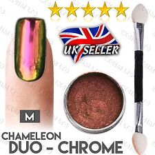 ULTRA CHAMELEON DUO CHROME PIGMENT COLOR SHIFT NAILS POWDER PURPLE MIRROR M