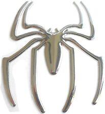 PRESKIN  - 3D Spinne Spider Auto Aufkleber Sticker Emblem chrom silber Logo WOW!