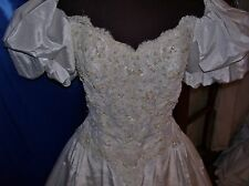 JIM HJELM of New York VINTAGE Wedding gown, bridal, Winter White aprx 90% discou