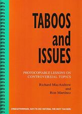 TABOOS AND ISSUES Photocopiable Lessons on Controversial Topics for Teachers NEW