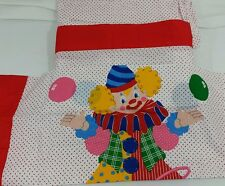 Vintage Circus Clown Twin Sheet Set 3 pieces - Flat, Fitted, Pillow Case