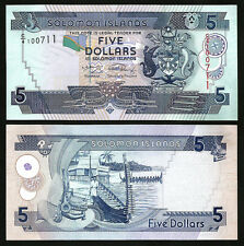 SOLOMON ISLANDS 5 DOLLARS 2008 UNCIRCULATED C/4 P.26