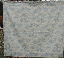 Toile Curtain Blue and White Lined Quality