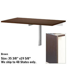 Dinning Kitchen Folded Folding Desk Wall Mounted Drop Leaf Portable Table Ikea