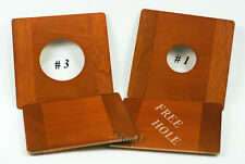 """1 LENS BOARD 5.5""""x 5.5""""RC for ZONE VI - 8x10""""- Sol.Mahogany, undrilled/free hole"""