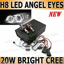 BMW E63 E64 E82 E87 E92 E93 E70 E71 E90 Xenon White Angel Eye H8 CREE LED Bulbs