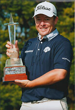 George COETZEE SIGNED Autograph 12x8 Photo AFTAL COA Joburg Open Winner 2014