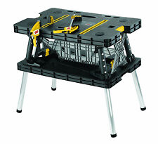 Keter Folding Work Table Bench Portable Tool Wood Clamps Horse Cutting Saw New