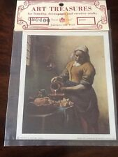 Vintage Decoupage Print Made In Italy 1969 Retro Art Crafting Art Treasures