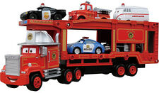 TOMICA DIECAST Disney Pixar Cars Rescue Go Go Carrier Mack Truck Hauler NEW