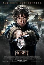 The Hobbit The Battle Of The Cinco Ejércitos DOBLE CARA ORIGINAL FINAL Póster