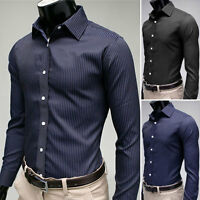 New Mens Smart Fashion Slim Fit Casual Business USS Shirt-2 Colors
