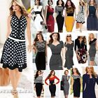 Women's Elegant Career Bodycon Evening Party Wear to Work Office Business Dress