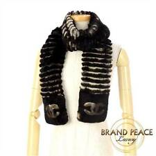 Chanel Coco mark scarf oriragfer / cashmere Brown / ivory 15 AW color clothing