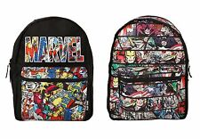 "Marvel Heroes Comic Book Panel Reversible 16"" School Backpack Book Bag NWT!"