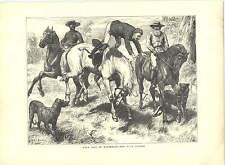 1871 incisioni Bush la vita in Australia Buck Maglione Basil Bradley