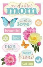 PAPER HOUSE MOM MOTHER FAMILY ANCESTRY DIMENSIONAL 3D SCRAPBOOK STICKERS