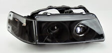Honda CRX 88-89 Black Projector Halo Angel Eye Headlights w/ Corners