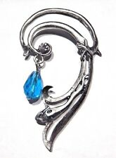 ELVEN EAR CUFF elf water naiad nymph mermaid siren silver blue earring larp 3B