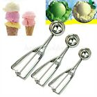 3 Pcs Stainless Steel Ice Cream Scoop Cookie Mash Muffin Spoon Spoon 4/5/6cm New