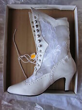 nwb LILIA SMITH calf leather/lace up BOOT Wedding Western Victorian Granny 9