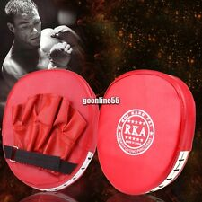 MMA Target Focus Punch Pad Boxing Mitt Training Glove Karate Muay Red EA