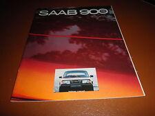 Saab 900 prospekt brochure von 1980