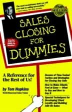 Sales Closing for Dummies by Tom Hopkins (1998, Paperback)